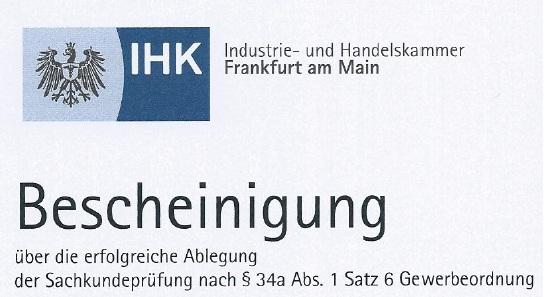 SECURE 24 ist IHK-zertifiziert